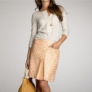 Pale Pink and Gold Pencil Skirt
